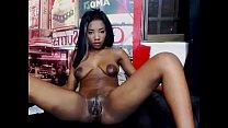 Image: black latina with big areolas playing on cam
