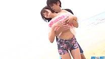Sexy on the beach along superb  Saya Tachibana ...