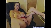 Busty BBW Chick on Webcam Masturbating