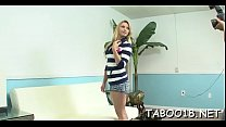 Ravishing teen drops her pantyhose and handjobs subrigid dong porn thumbnail