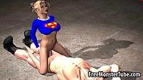 Hot 3D cartoon Superwoman sucks cock and gets fuckedmSoopergirl-high 2