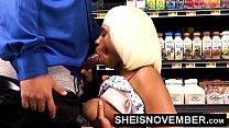 WalMart Public Blowjob Big Tits Young Black Girl Sheisnovember