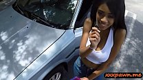 Big tits ebony sells her car and banged by pawn keeper
