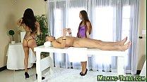 Busty masseuse gets cum - 9Club.Top