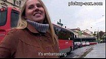 Eurobabe Zuzana banged with stranger for some m...