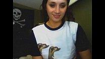 Hot girl gets nude on webcam