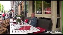 Lustful old boy goes amsterdam