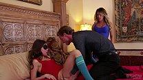 Riley Reid and Capri Cavanni share a cock at Bskow