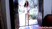 Sexy  Milf Juli a Ann Comes Over & Strips  r & Strips Down