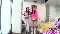 SWALLOWED Aidra Fox and Marley Brinx gagging on big fat cock thumbnail