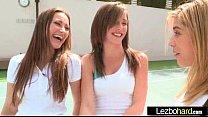 Teen Lez Girls (Dani Daniels & Malena Morgan & Lia Lor) Make Love In Front Of Cam clip-13