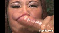 Lovely Asian girl wanking a nice dick pornhub video