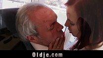Cutie young secretary horny for boss old cock fucks in 69 cum swallowing Vorschaubild