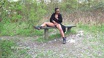 Ebony babe Michelles public flashing and black cuties outdoor masturbation Preview