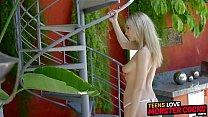 Pretty teen with great natural tits spreads her legs for big coc Vorschaubild