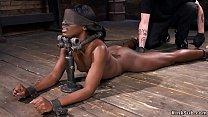 Ebony in device bondage fucked video