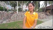 Mischievous oriental legal age teenager reveals...
