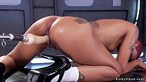Hot ass ebony spreads legs and fucks machine thumbnail