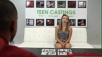 Brutal Casting Audition For Alluring Teenie