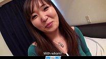 Subtitles - Japanese girl Haruka Ohsawa gets a big cock thumbnail