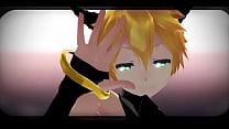 (MMD GAY) Len Kagamine Hot Pole Dance
