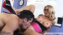 Busty sex teacher Sarah Jessie gets fucked thumbnail