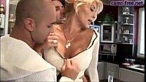 Gorgeous italian blonde MILF DP fuck thumb