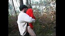teen sucks boyfriend in forest