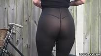 sexy ass see through lycra leggings