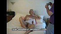 Lovely 60 plus blonde lady posing (three parts) thumbnail
