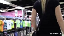 Charming czech chick is tempted in the shopping...