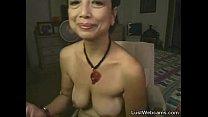 Asian granny masturbates on webcam pornhub video