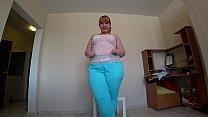 Lesbian with strap fucks redhead bbw with a big booty in anal. - 9Club.Top