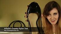 Mikaila's Sweaty Nylon Feet - www.clips4sale.com/8983/15623122