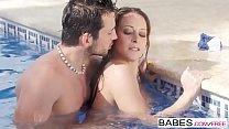 Babes - Elegant Anal - Fun Pool starring Joel and Martina Gold clip thumbnail