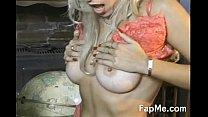 Sexy slut licks and wanks a white dick pornhub video