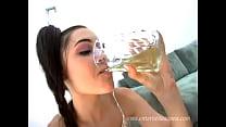 Sasha Grey drinking her own piss pornhub video
