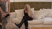 Perfect babe fucked deeply in cfnm action