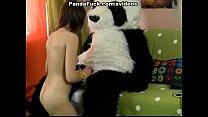 plush panda young brunette fucked
