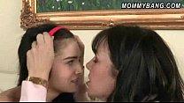 Mature babe Rayveness teach teen Zoe Kush sex lesson