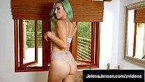 Long Legged Amazon Jelena Jensen In Green Hair & Lingerie!'s Thumb