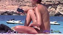 Italian sunbathing topless bikini crack wedgie thumb