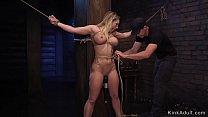 Big tits blonde beauty gets slave training [노예 플레이 slave abuse]