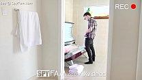 Spyfam step bro creeps on naked tanning step sister (X Vido Com) thumbnail
