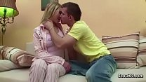 Bro Seduce Step-Sister to First Fuck When Mom a...