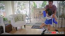 Tiny Teen Cheerleader Stepsister Fucked By Big Bro