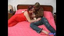 Busty Mom Helga vs Young Slava 1