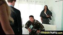 Japanese Masseuse Gives a Full Service Massage 24