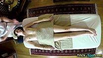 Small titty babe massage
