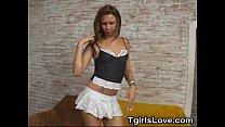 Hot Tranny Striptease!